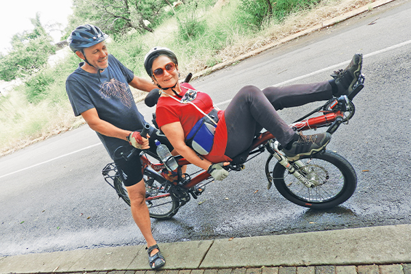 <p>ON A BICYCLE MADE FOR TWO</p>