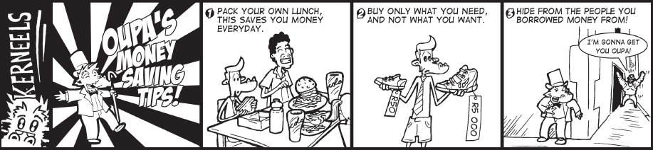 Kerneels - Oupa's money Saving Tips